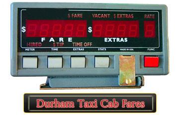 Durham Taxi Cab Fare Info